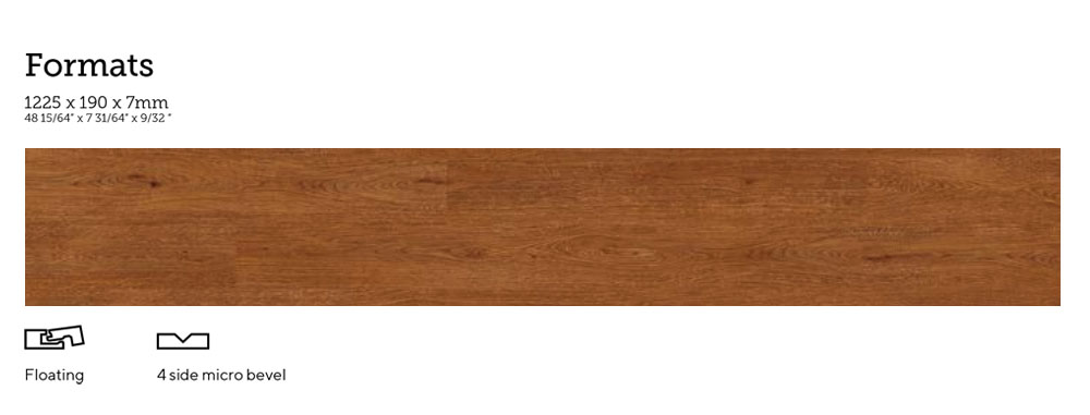Amorim Wood WISE Plank Dimensions are 48.22