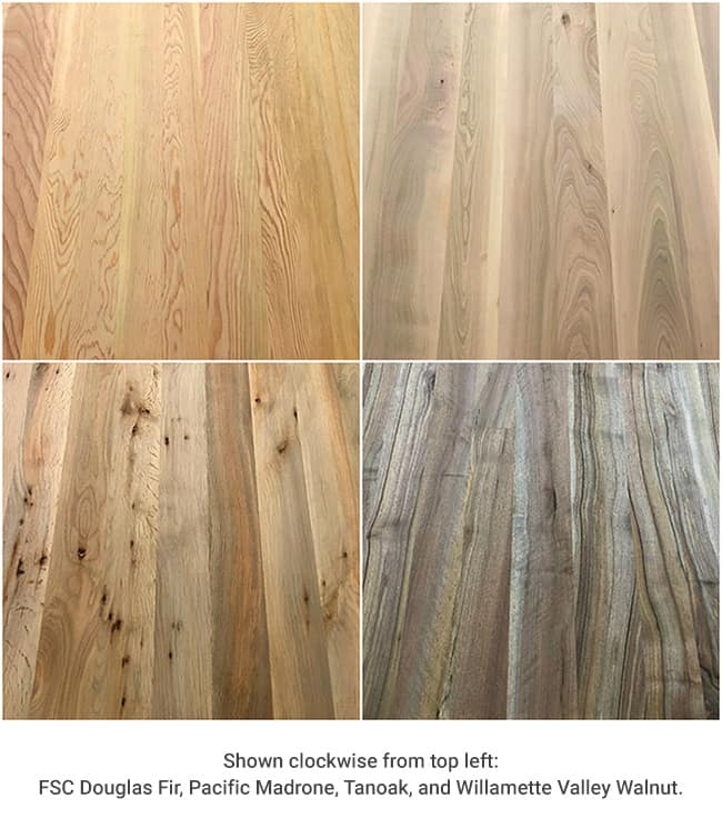 Madrone Butcher Block Countertop Plank Unfinished Green Building Products Sustainable Materials Greenhome Solutions
