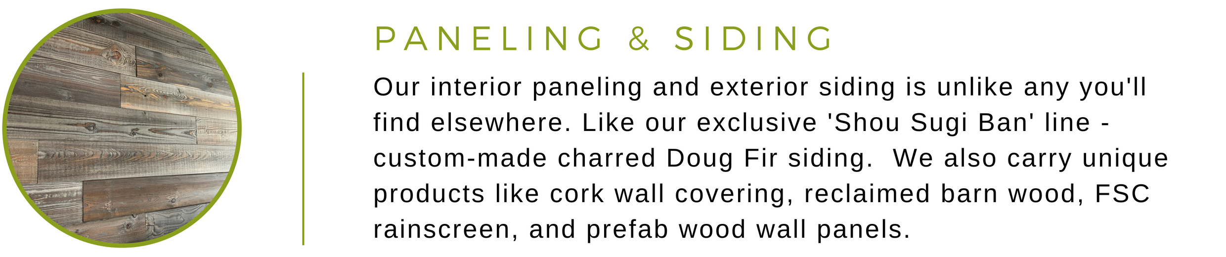 Eco Friendly Paneling Siding And Wall Coverings