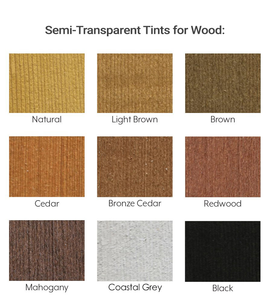 Seal Once Semi Transparent Tints for Wood