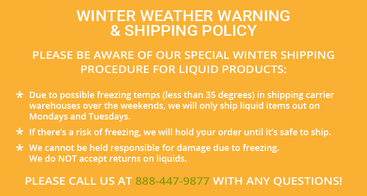 Winter Weather Shipping Policy for Liquid Products