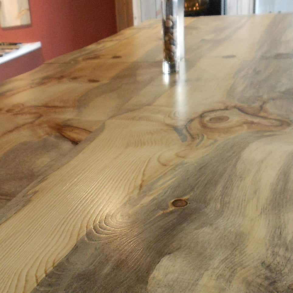 Charming Blue Pine Butcher Block Countertop   PLANK   UNFINISHED