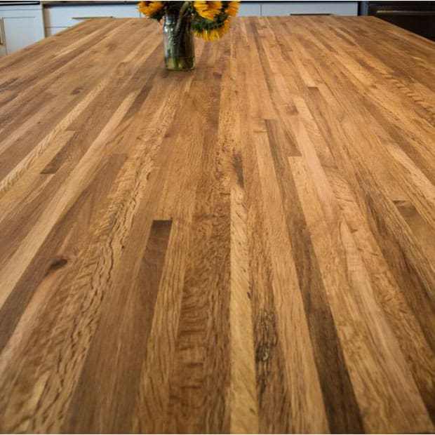 Oregon Tanoak Butcher Block Countertop   SIDE GRAIN   UNFINISHED