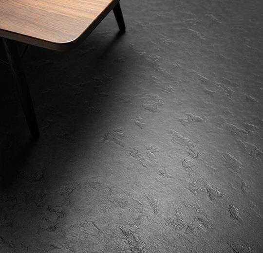 Hickory Gluedown Hardwood Floor. Marmoleum Slate Sheet