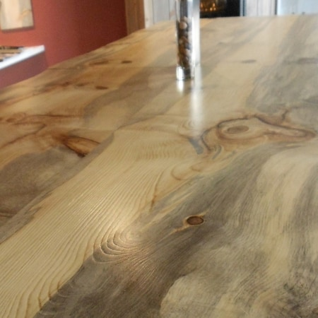 Blue Pine Butcher Block Countertop Plank Unfinished