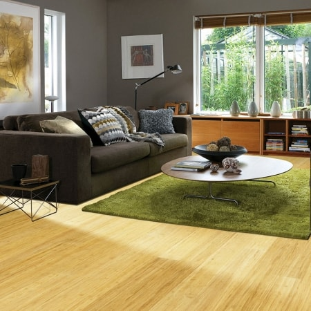 Teragren Synergy Wide Plank Engineered Strand Bamboo Flooring | Wheat
