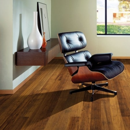 Teragren SYNERGY MPL Xcora Narrow-Plank Solid Strand Woven Bamboo Flooring in CHESTNUT at ghsproducts.com