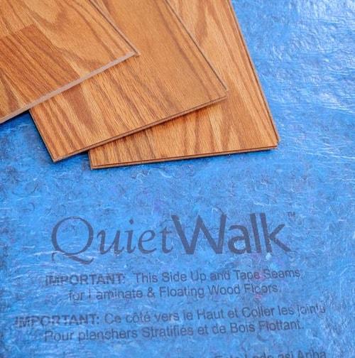 Quietwalk Premium Underlayment Green, Premium Underlayment Laminate Flooring