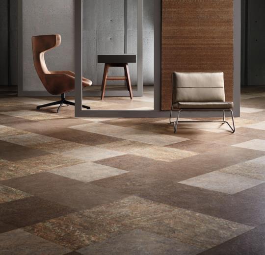 Marmoleum Modular Tile 25mm Glue Down Floor Square Tiles Green