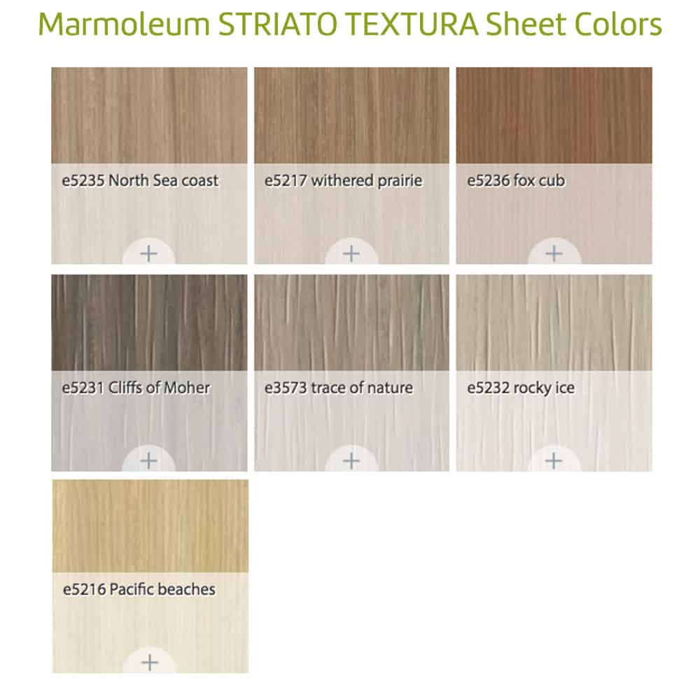 Sustainable Flooring Materials marmoleum 'striato' sheet - glue down flooring: green building