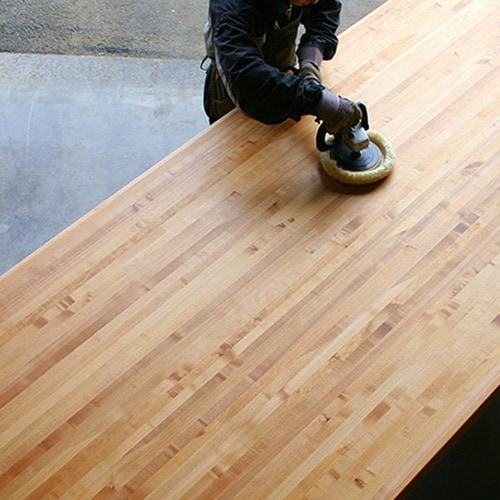 Leaf Maple Side Grain Butcher Block Countertop