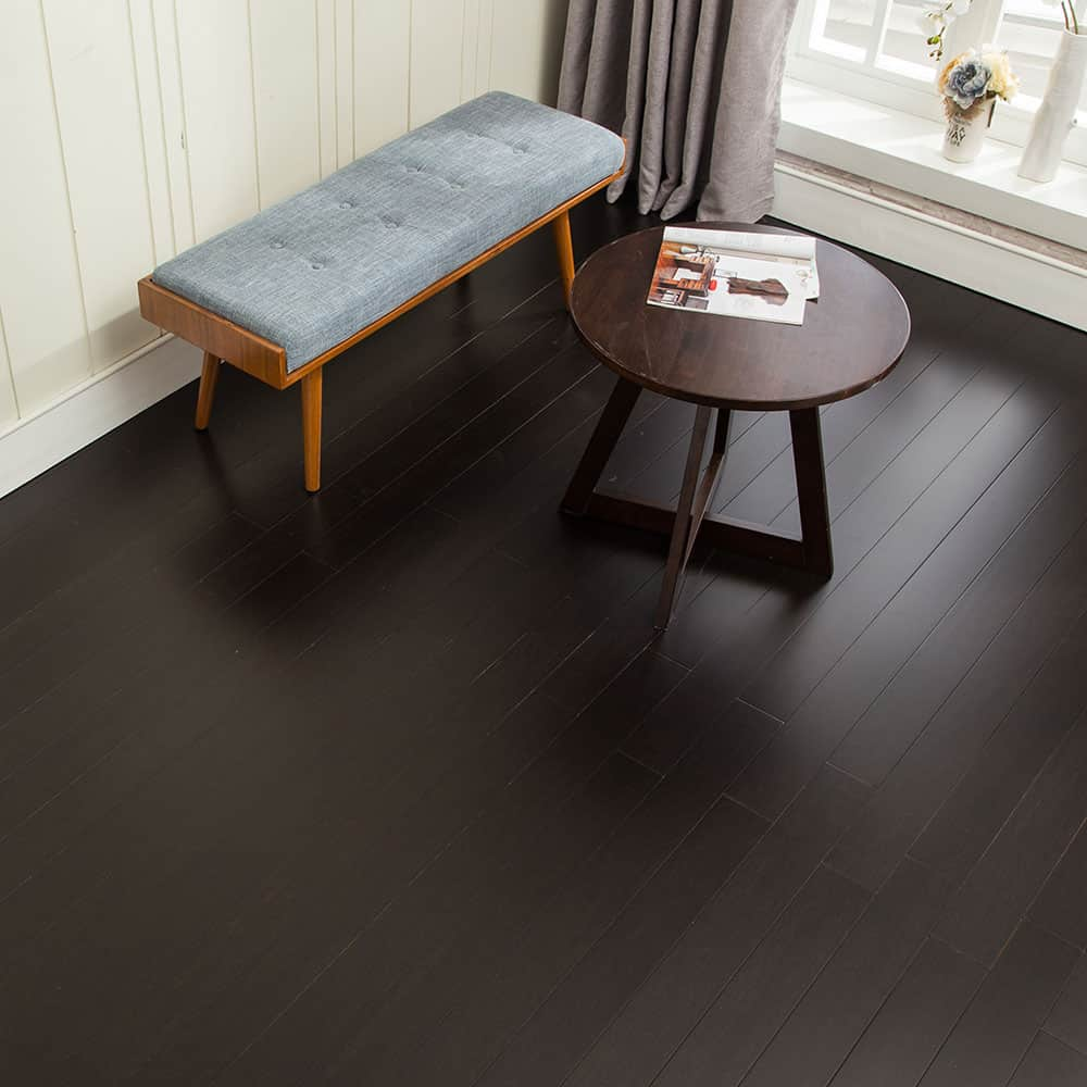 ECOFusion Sustainable Solid Bamboo Flooring Ebony Night