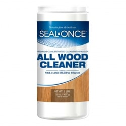 Seal Once All Wood Cleaner loosens dirt and removes discoloration, mold and mildew stains without harsh toxins!