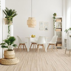 Cork WISE by Amorim - a revolutionary new Waterproof Cork Flooring in a Floating Format - Lane Antique White (Room View)