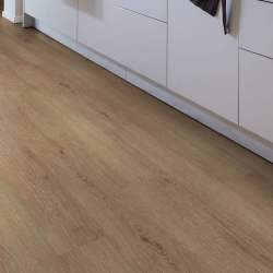 Wood WISE - 100% Waterproof Cork Flooring with a Wood Look in Natural Dark Oak