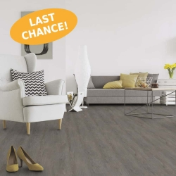 Wood WISE - 100% Waterproof Cork Flooring with a Wood Look in Mystic Grey Oak - Room View