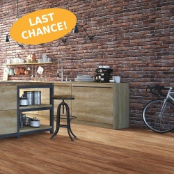 Wood WISE - 100% Waterproof Cork Flooring with a Wood Look in Barnwood - Room View