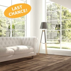 Wood WISE - 100% Waterproof Cork Flooring with a Wood Look in Dark Onyx Oak - Room View