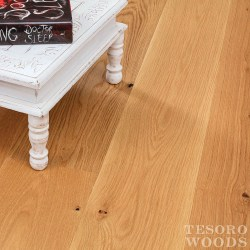 "Greenhome Solutions Sustainable Hardwoods | 7"" White Oak Rustic Hardwood Flooring - Straw"