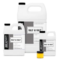 The Real Milk Paint Company - Half & Half  (Half Pure Tung Oil, Half Citrus Solvent), shown in all available sizes from Greenhome Solutions (ghsproducts.com)