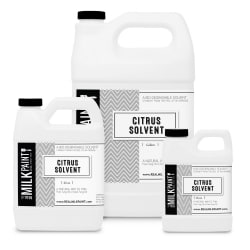 The Real Milk Paint Company - Citrus Solvent, shown in all available sizes from Greenhome Solutions (ghsproducts.com)