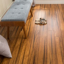 EcoFusion Solid Wide Plank Woven Bamboo Flooring | Peppercorn