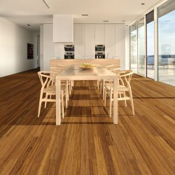 Teragren SYNERGY MPL Xcora Narrow-Plank Solid Strand Woven Bamboo Flooring in JAVA at ghsproducts.com