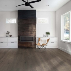 Valinge - Woodura Hardened Wood Flooring | Mineral Grey Oak - Room View