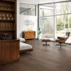 Valinge - Woodura Hardened Wood Flooring | Terra Brown Walnut - Room View