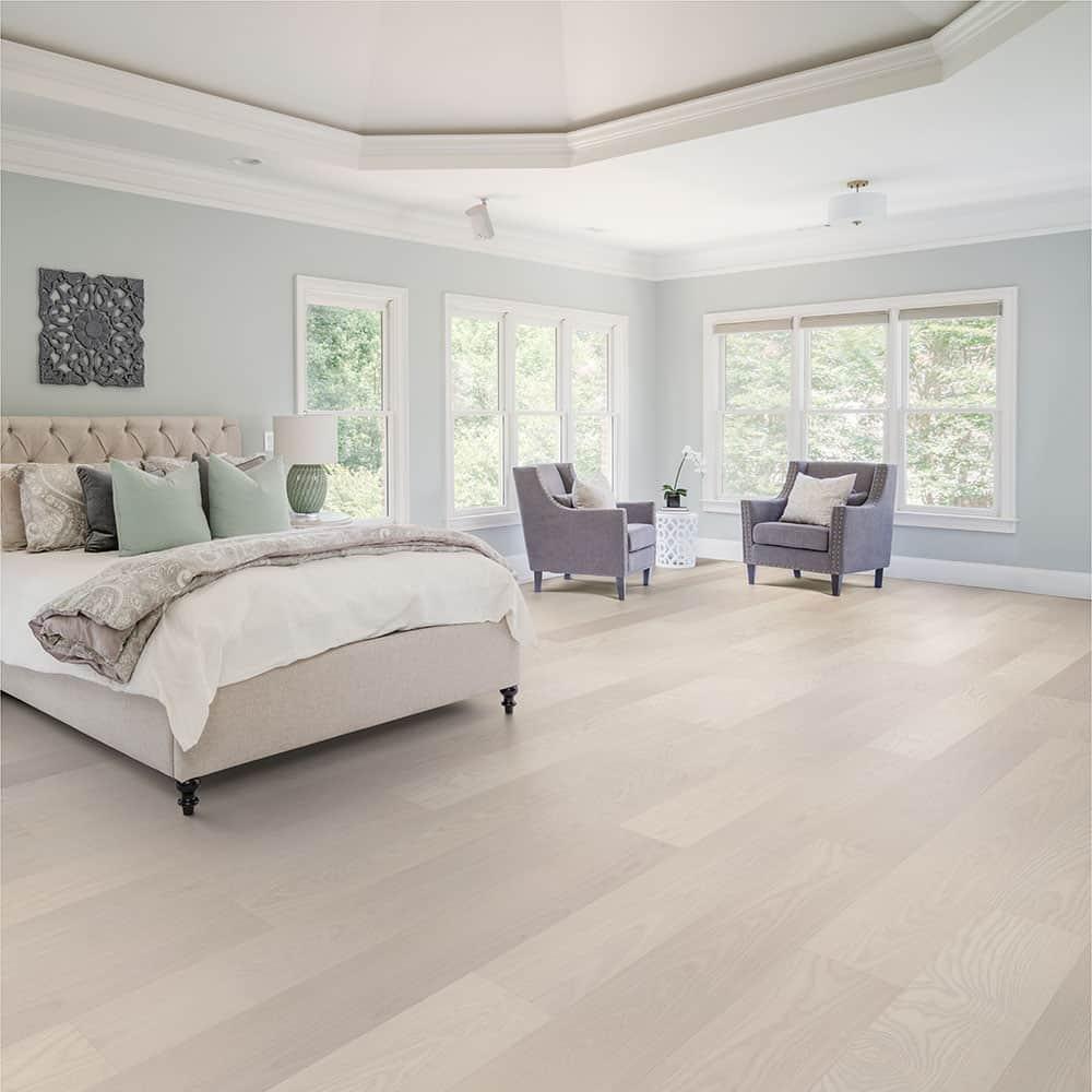 Valinge Hardened Real Wood Flooring, White Ash Laminate Flooring